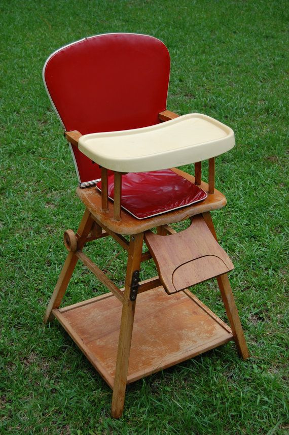 Vintage 1950s Highchair Convertible Converts By