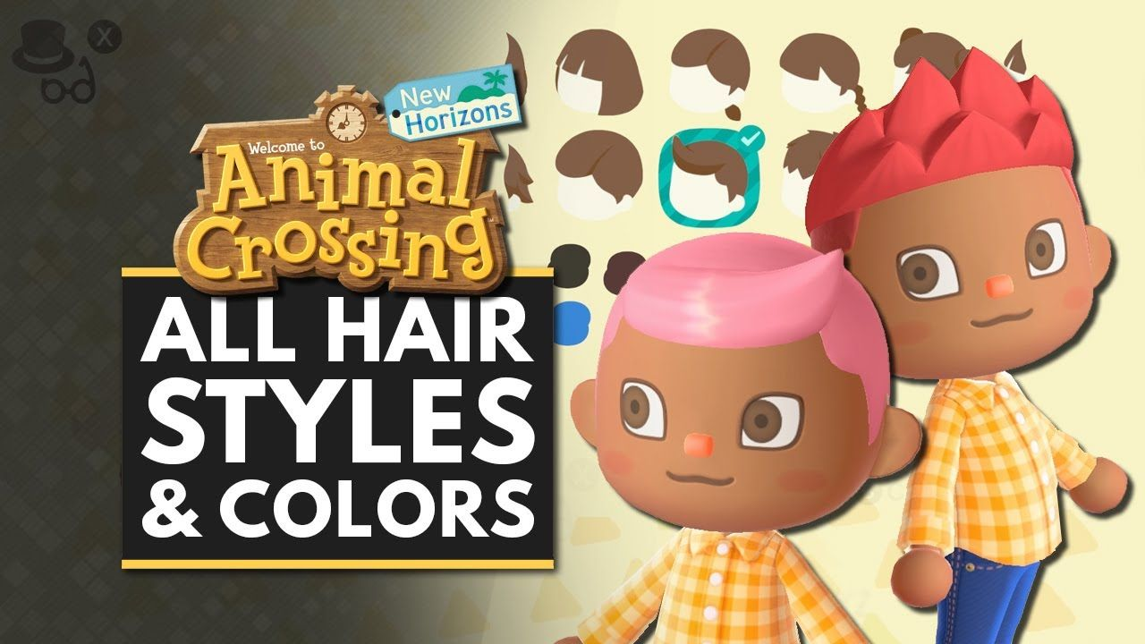 Animal Crossing New Horizons All Hairstyles Color Customization Options Acnh Anima In 2020 Hair Color Guide Animal Crossing Hair Animal Crossing