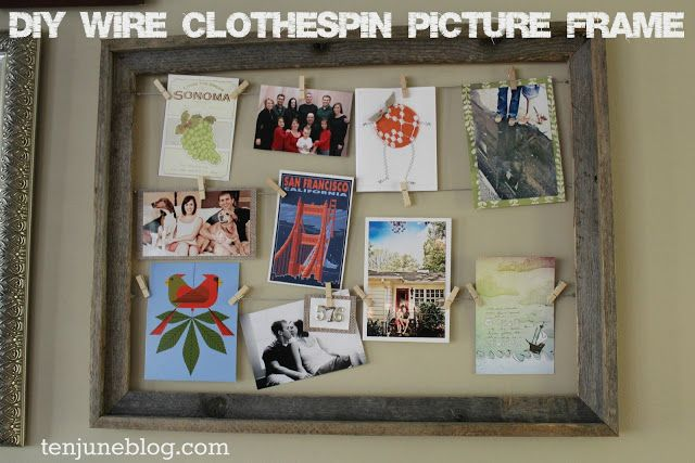 Diy Wire Clothespin Picture Frame Clothespin Picture Frames Diy Picture Frames Picture Frames