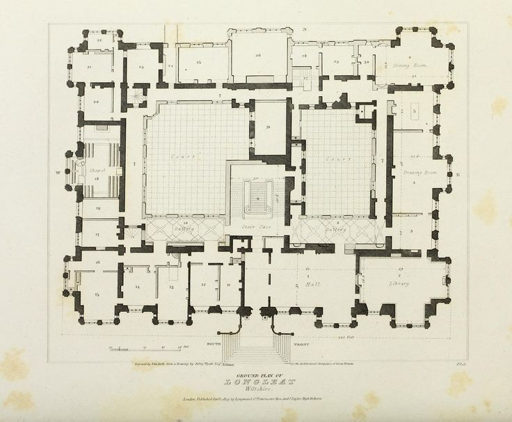 Longleat Architectural Floor Plans Floor Plans English Manor Houses