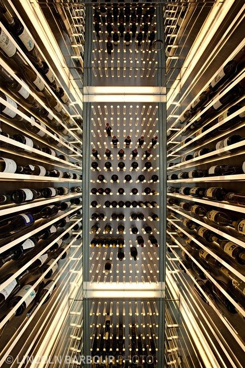 Mirrored floor and ceiling Wine Cellar (With images