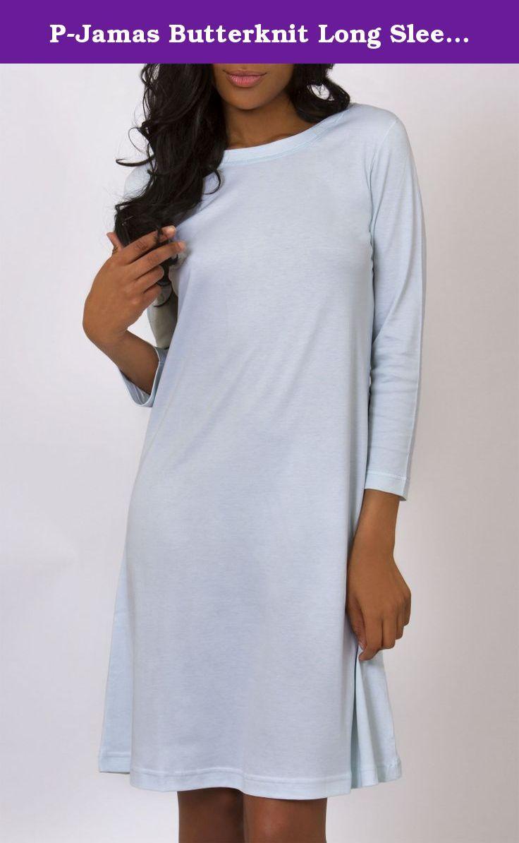 Pjamas butterknit long sleeve gown myellow fine pima