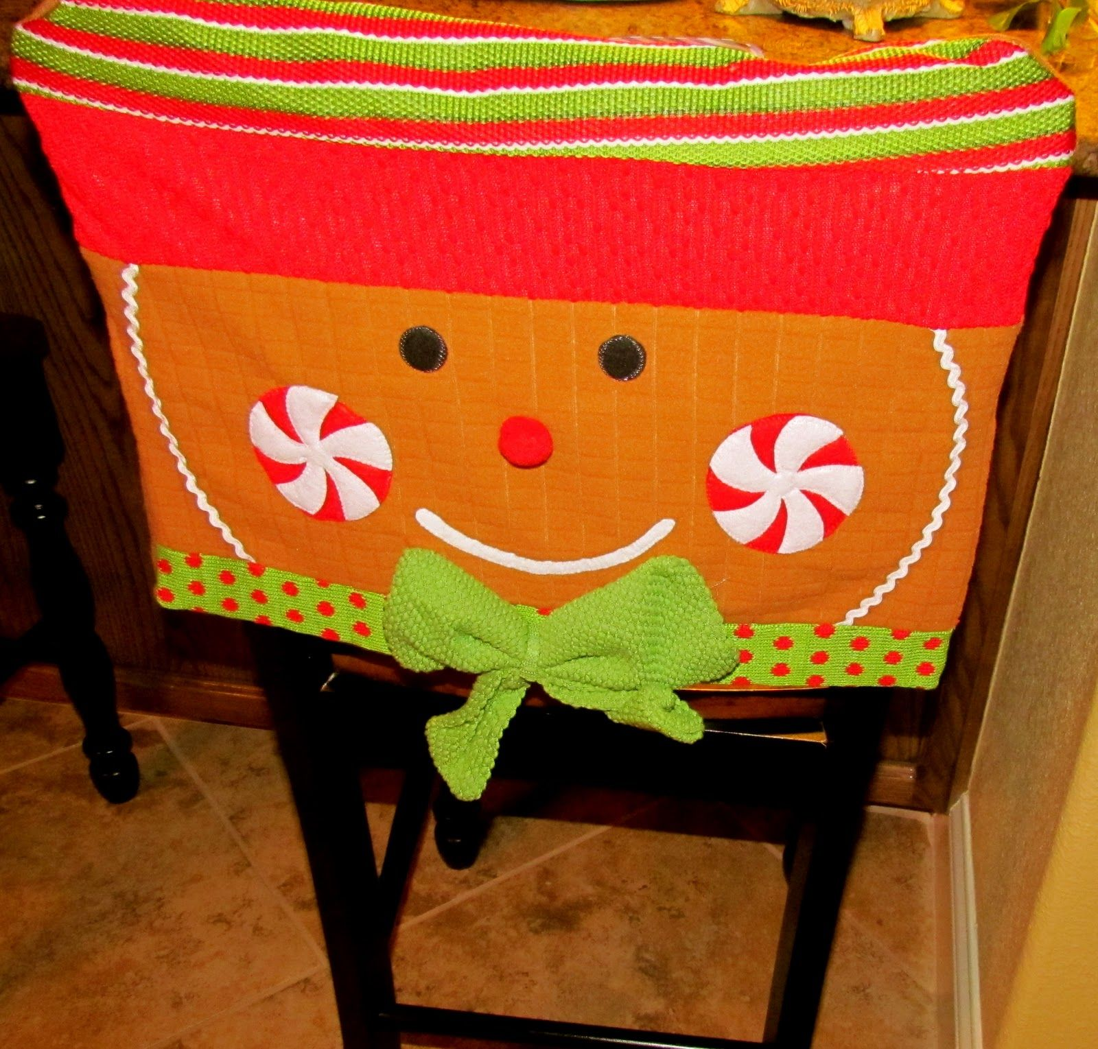 Christmas chair covers ideas - Christmas Bar Stool Covers Found These Cute Chair Covers For The Bar Stools In The