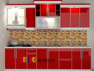 kitchenset pelangi desain interior kitchen set lurus