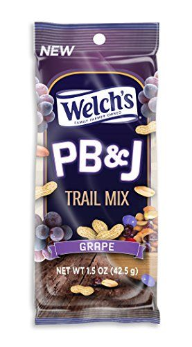 Welchs Pbj Trail Mix Grape Peanut Butter And Jelly Flavored Trail Mix 12ct15oz Bags Grape 15oz Check Out This Grea Healthy Snacks To Buy Trail Mix Welchs