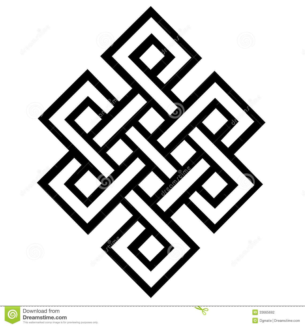 Noeud ternel photographie stock image 33665692 tattoo endless knot buddhist symbol chinese eternal love and friendship t shirt buycottarizona Image collections