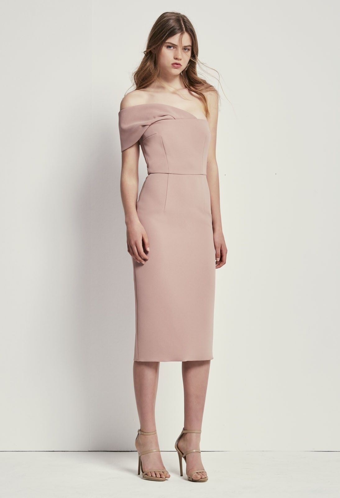 Double Crepe Roxanne Dress | WEDDING: PINK, PURPLE + BURGUNDY ...