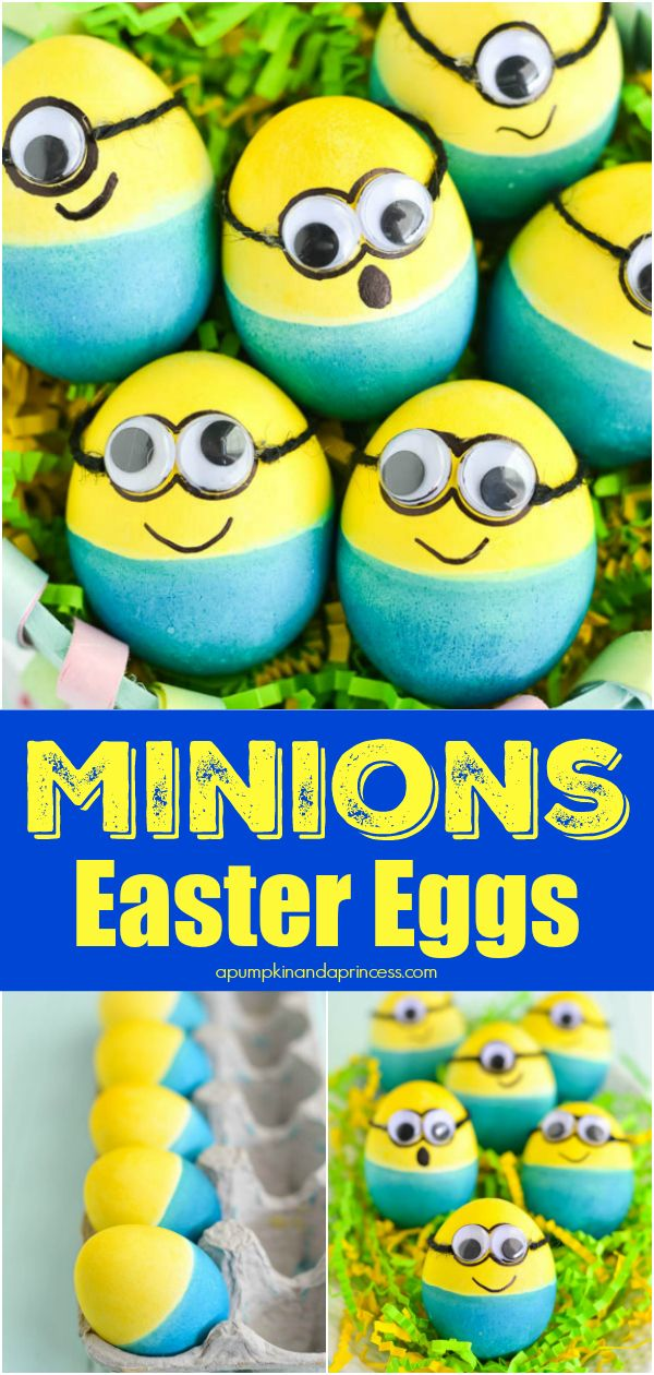 Dyed Minion Easter Eggs images