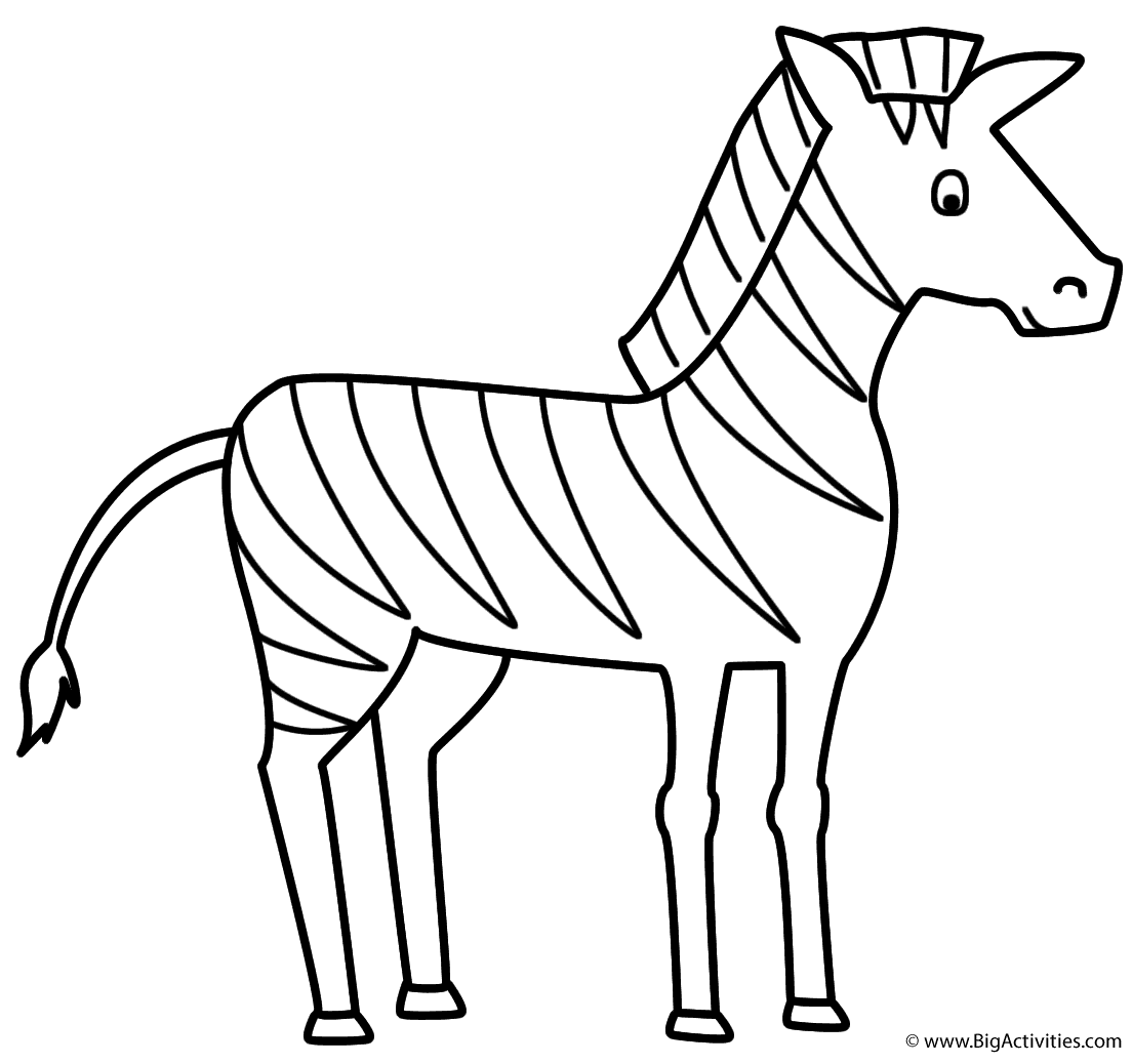 Coloring Page Zebra Coloring Pages Zebra Drawing Animal Coloring Books