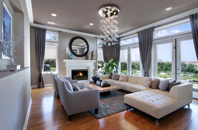 Contemporary Living Room - love how open light and clean this feels. Dark wood flooring though. #style #shopping #styles #outfit #pretty #girl #girls #beauty #beautiful #me #cute #stylish #photooftheday #swag #dress #shoes #diy #design #fashion #homedecor