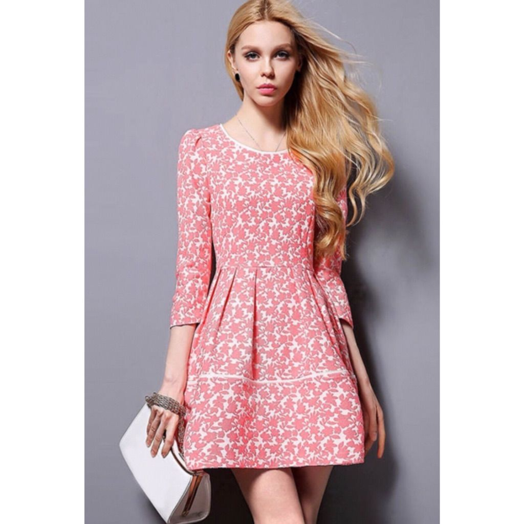Pink and white floral dress by oasap white floral dress and products