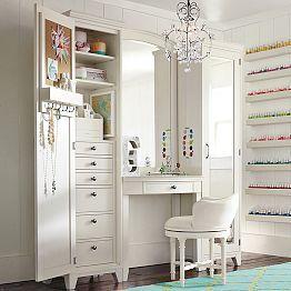 High Quality Bedroom Vanities, Vanities For Bedrooms U0026 Girlsu0027 Vanities   PBteen