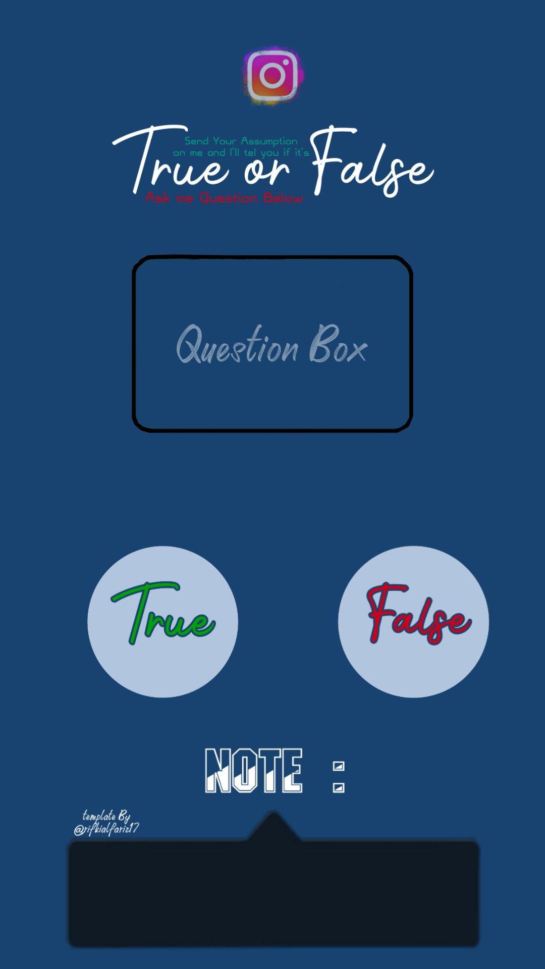 Template Question Box Instagram True Or False Instagram Questions This Or That Questions Book Quotes