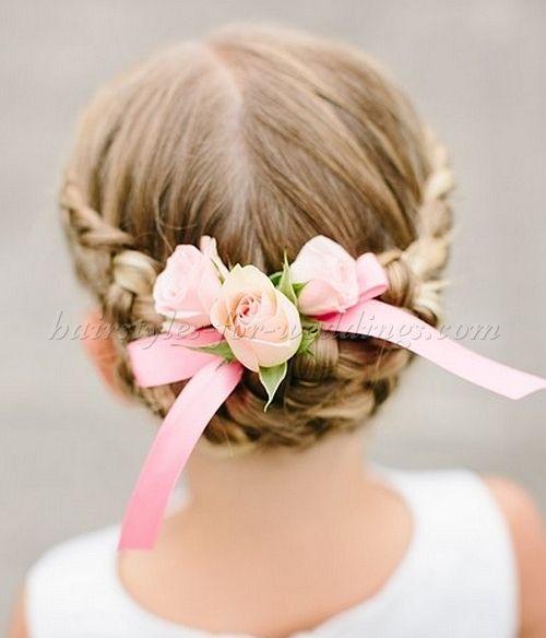 Cute Kid Hairstyles For Weddings: Flowergirl+hairstyles+-+braided+flowergirl+hairstyle