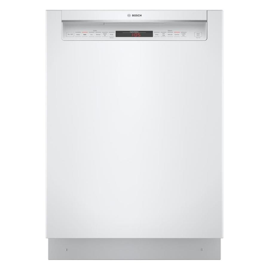 Bosch 800 42 Decibel Front Control 24 In Built In Dishwasher White Energy Star Lowes Com Dishwasher White Built In Dishwasher Energy Star