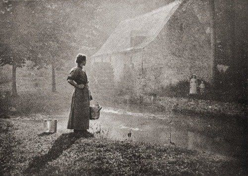By the Watermill C.1900   Photogravure; Leonard Missone
