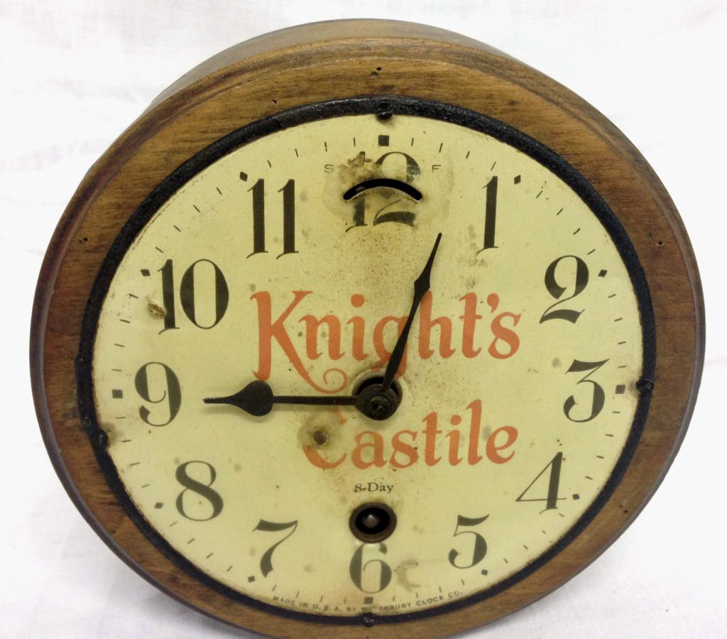 Knights Castile Vintage 8 Day Wall Clock Made In Usa John