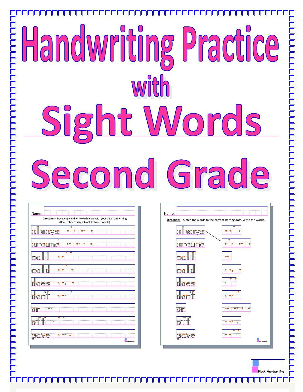 Handwriting Worksheets For 2nd Grade