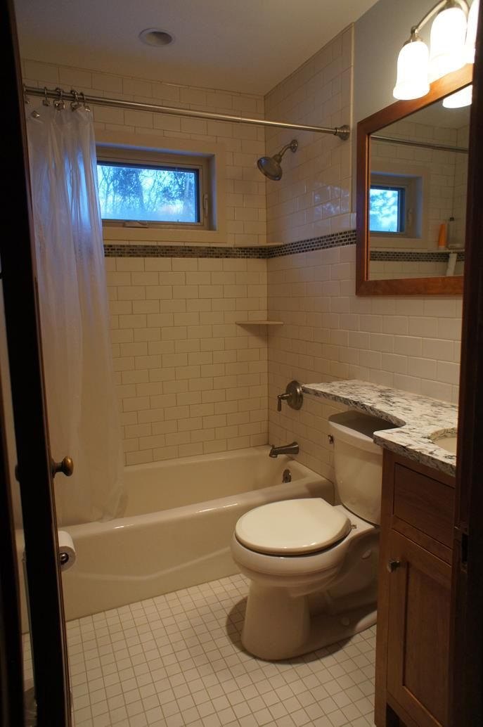 Time remodel job integrated vanity top and over toilet for Bathroom size