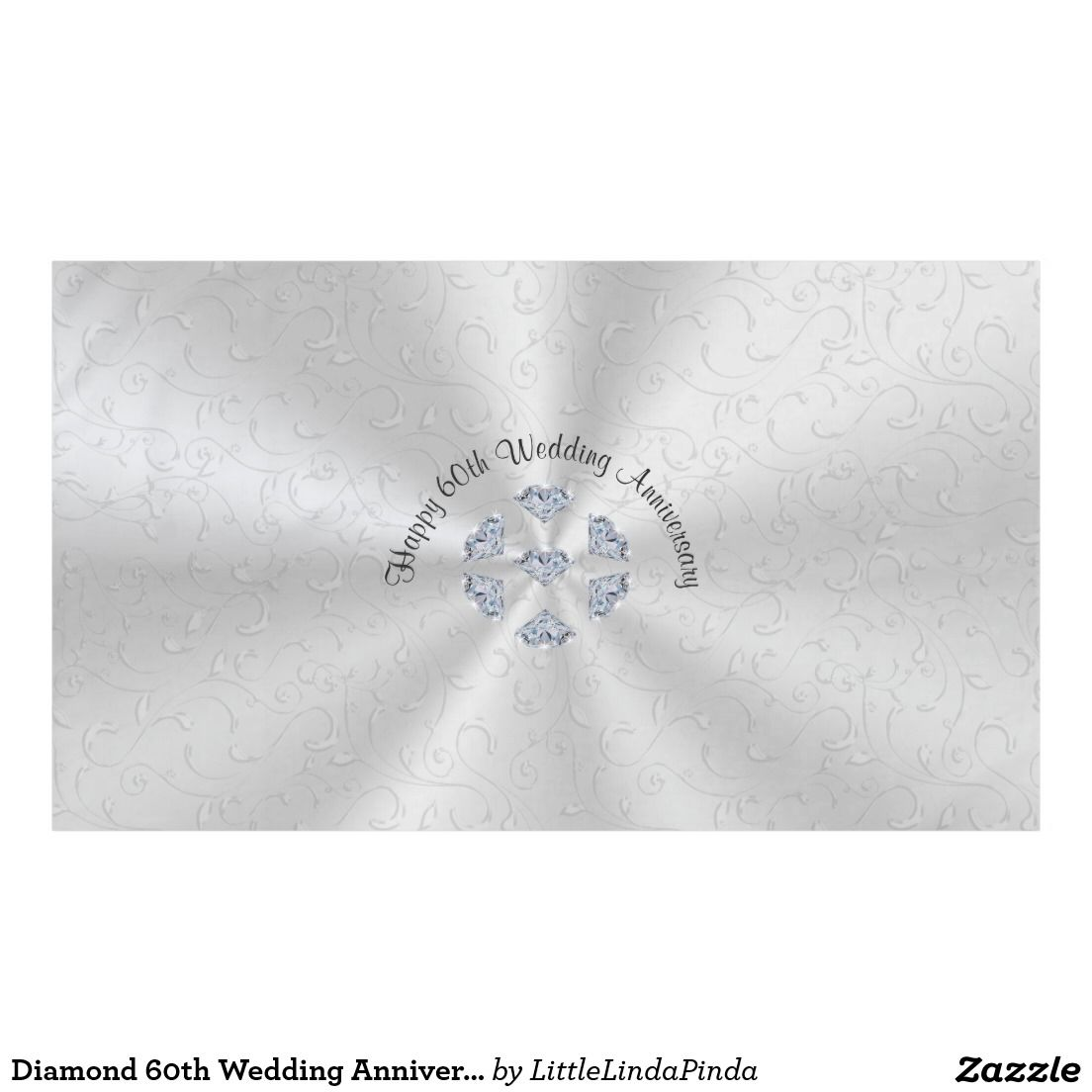 Diamond 60th Wedding Anniversary Table Decorations Tablecloth | 60 ...