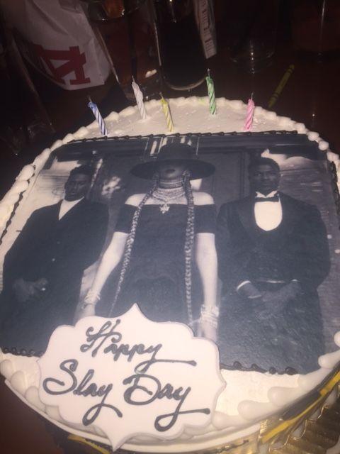 Brilliant My 28Th Birthday Beyonces Lemonade Theme Cake Formation They Personalised Birthday Cards Veneteletsinfo