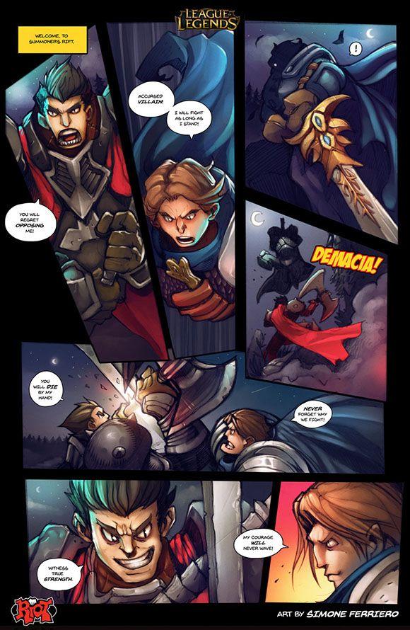Darius Vs Garen Comic League Of Legends