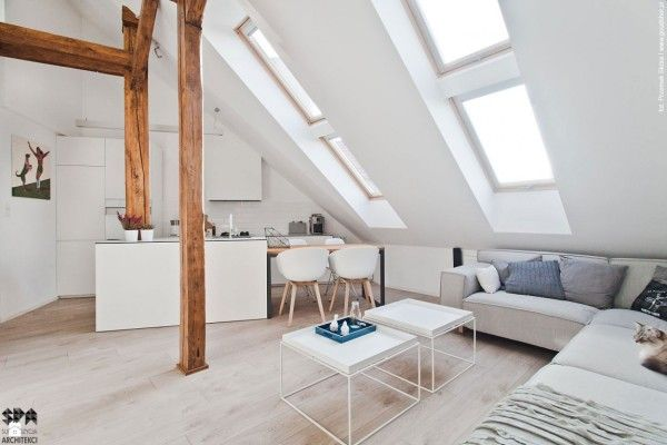 Des Combles Rénovés Avec Modernité! | Attic, Architecture And Lofts