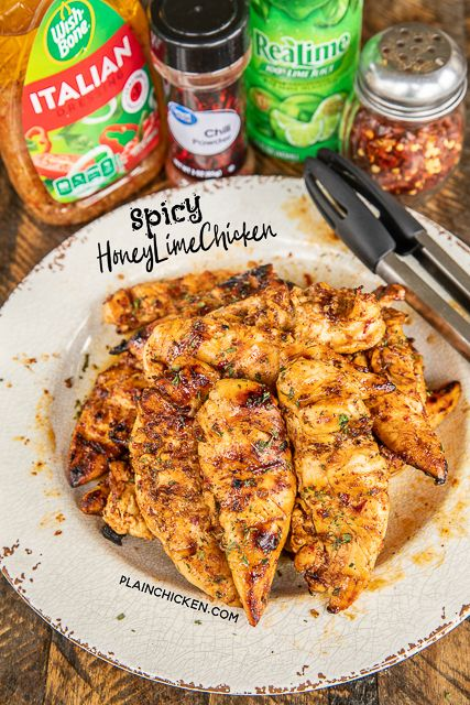 Spicy Honey Lime Chicken - Plain Chicken