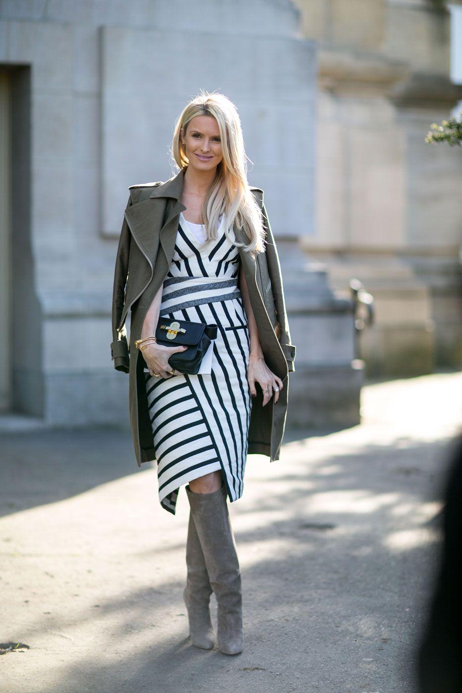 stripe on. #KateDavidsonHudson in Paris.
