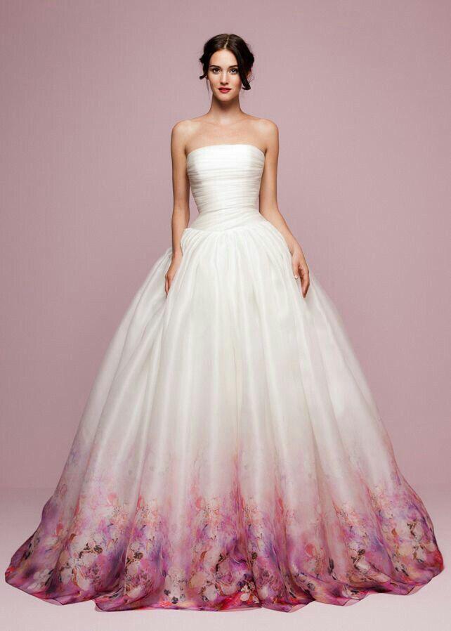 Roses In Garden: Wedding Dresses, Printed