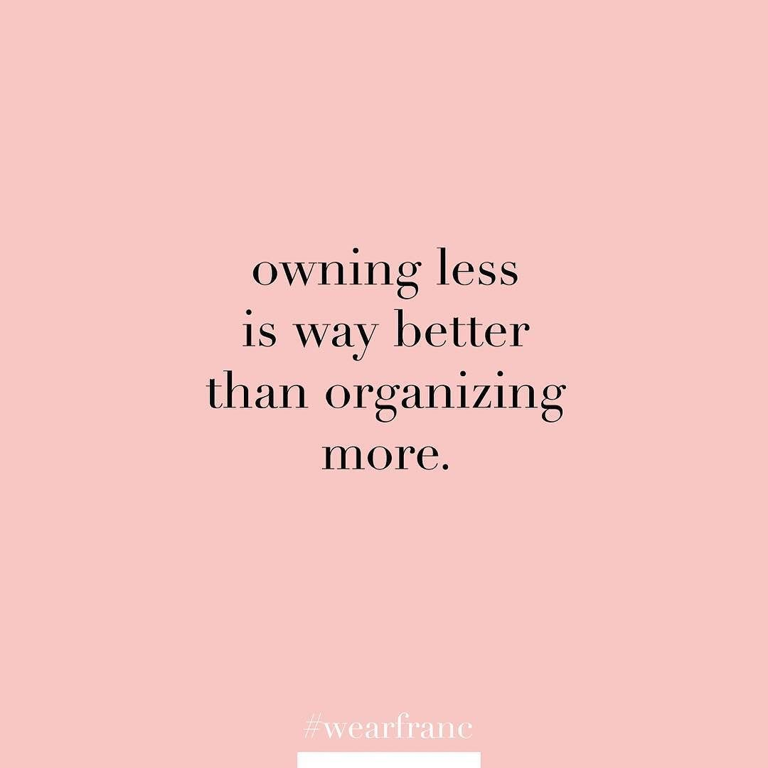 Life motto. Quality over quantity am I right? . #wearfranc #lifemotto #minimalism #twitter #thinking