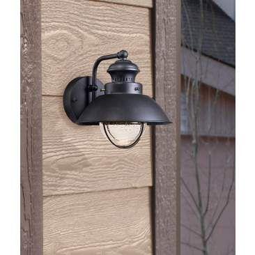 "Fordham 8 3/4"" High Black LED Outdoor Wall Light"