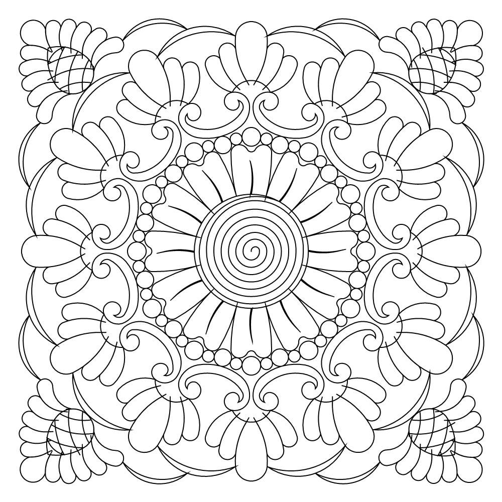 Tuscan Block 003 Candlewicking Patterns Pattern Coloring Pages Mandala Coloring Pages