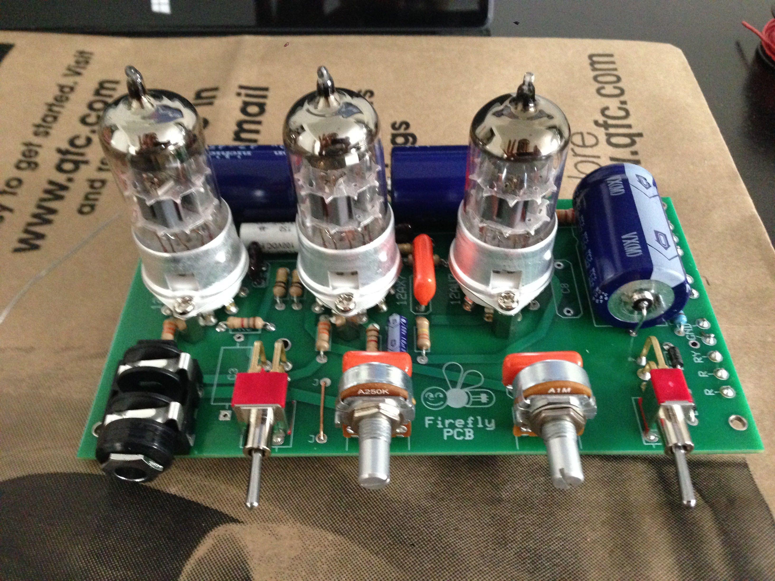 Audio6N2+EL34 Vacuum Tube Amplifier Class A Single-Ended Amp Board DIY Kit