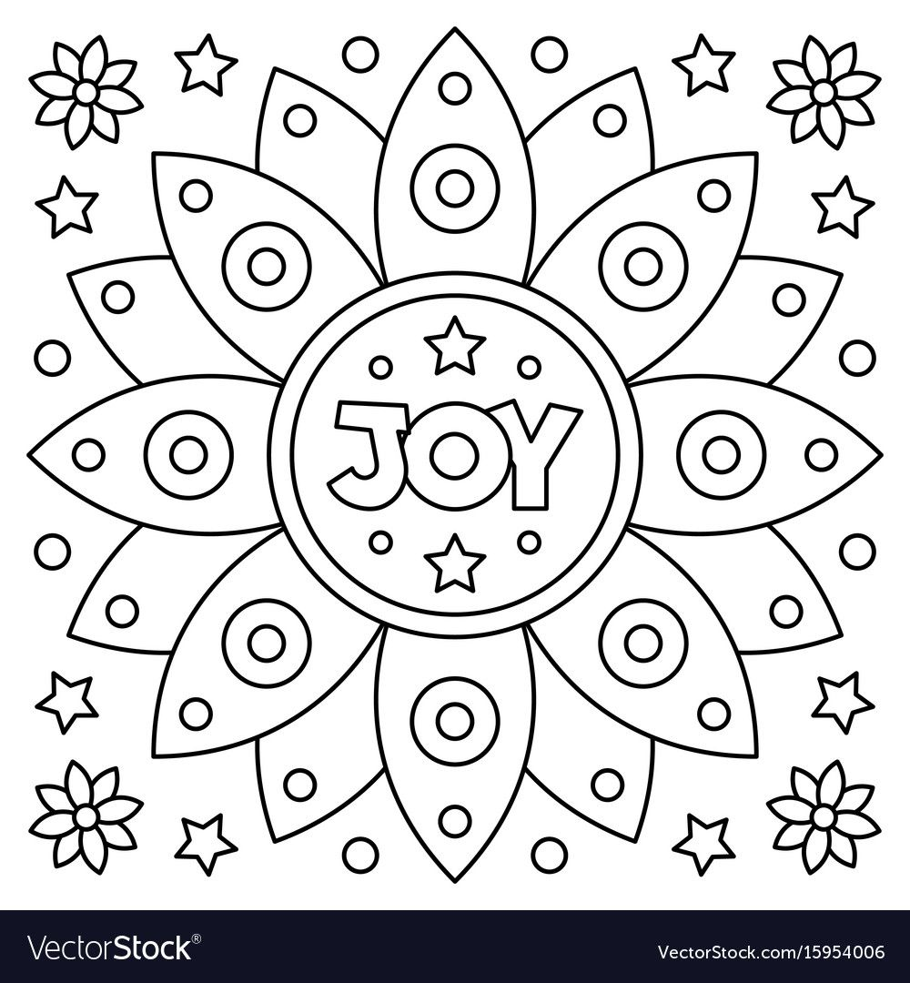 Coloring Page Vector Image On Vectorstock Coloring Pages Love Coloring Pages Art Kit