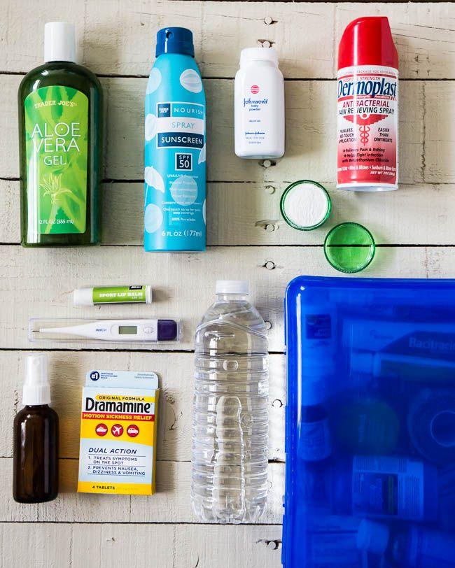How To Make A Beach Bag First Aid Kit Henryhappened Com Diy First Aid Kit Beach Bag Earthquake Kits