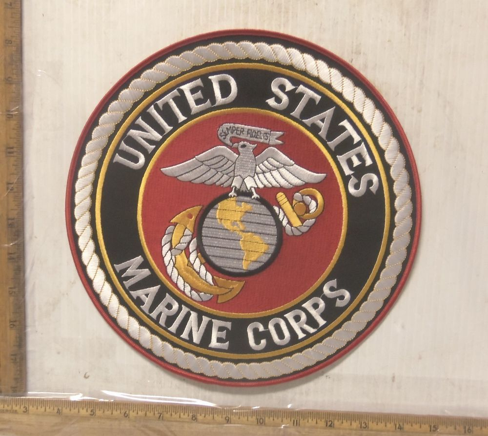 United States Marine Corps – Semper Fidelis Embroidered Back Patch ...