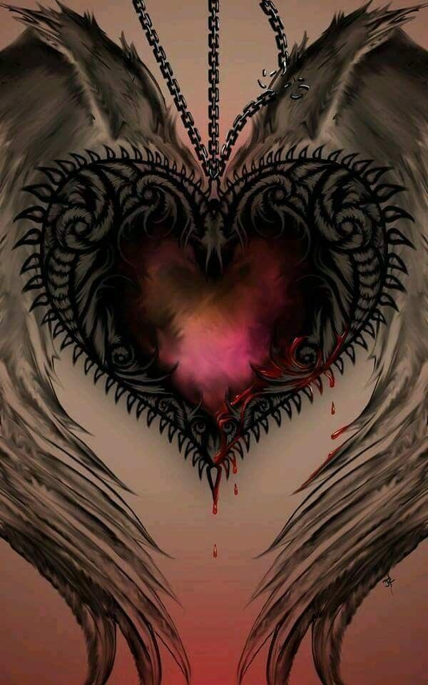 Pin by Trish Mingus on love | Heart with wings ...