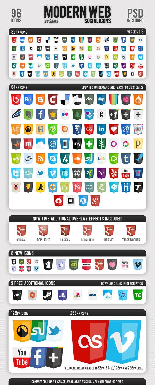 Icônes 15 Packs d'icônes de qualité (avec images