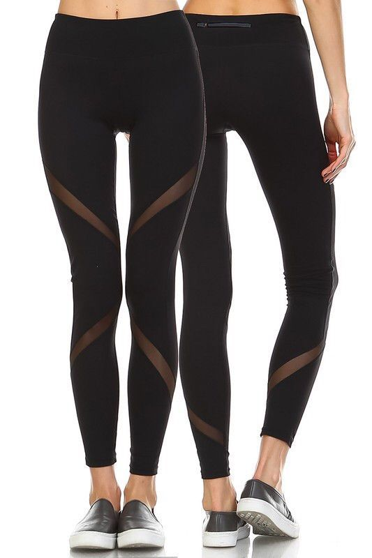 e23265e2a5a534 There are a million reasons for you to love these leggings: #1 Leggings #2  Black Leggings #3 Super cute mesh side panels on front and back #4 Extra  wide ...