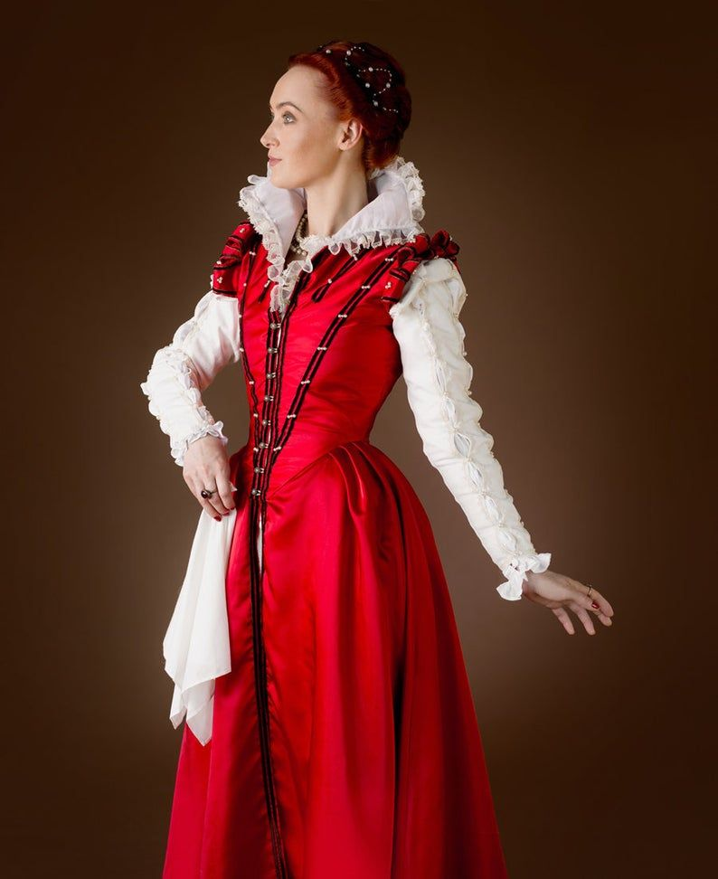 Red Renaissance Gown 16th Century Italian Dress Made To Etsy