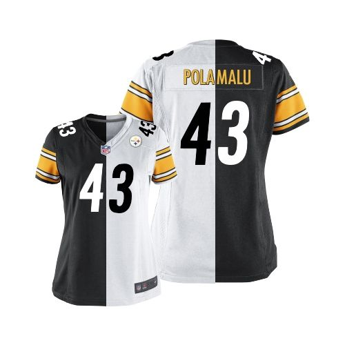 Troy Polamalu Women s Elite Team Road Two Tone Jersey  Nike NFL Pittsburgh  Steelers  43 ca2bd7efa