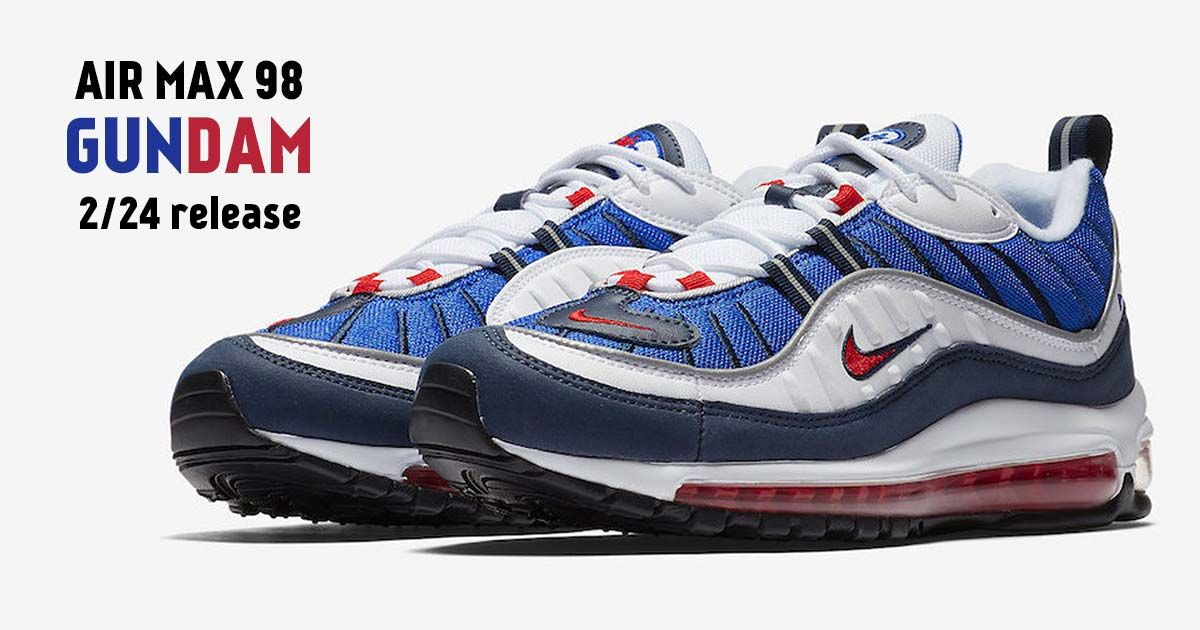 c512d30147 Interested in the Nike Air Max 98 Gundam? Get Links to Buy These Air Max  98s in Black, White, Blue and Red before they're sold out online!