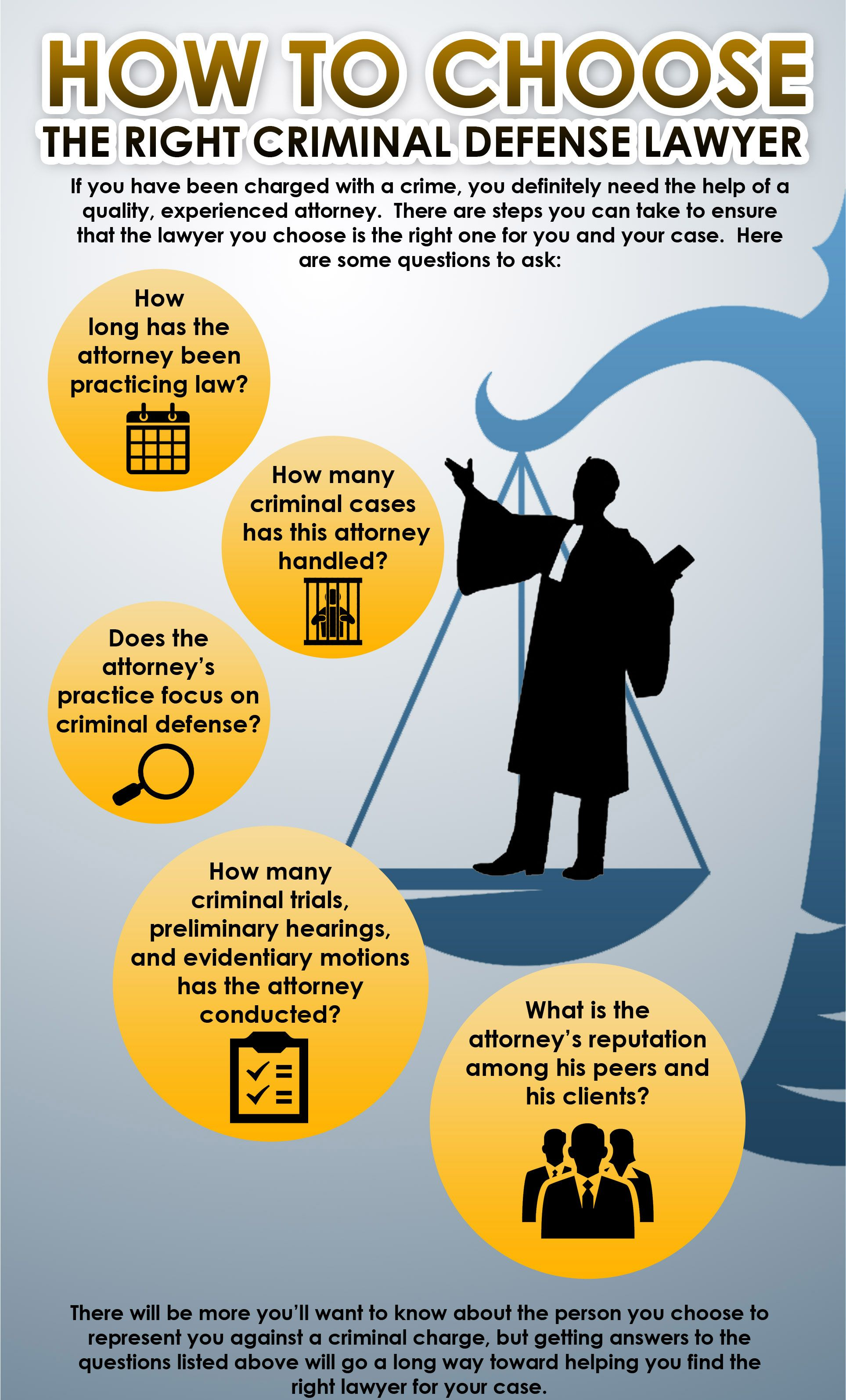 How To Choose Your Defence Lawyer Inforgraphic Criminal Defense