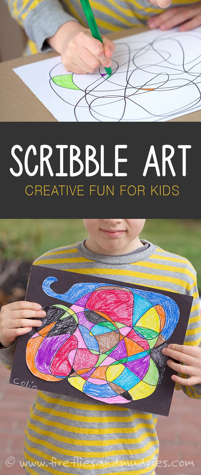 Scribble Art Is A Fun Boredom Busting Creative Activity For Kids Sponsored By MrSketchScentedCrayons