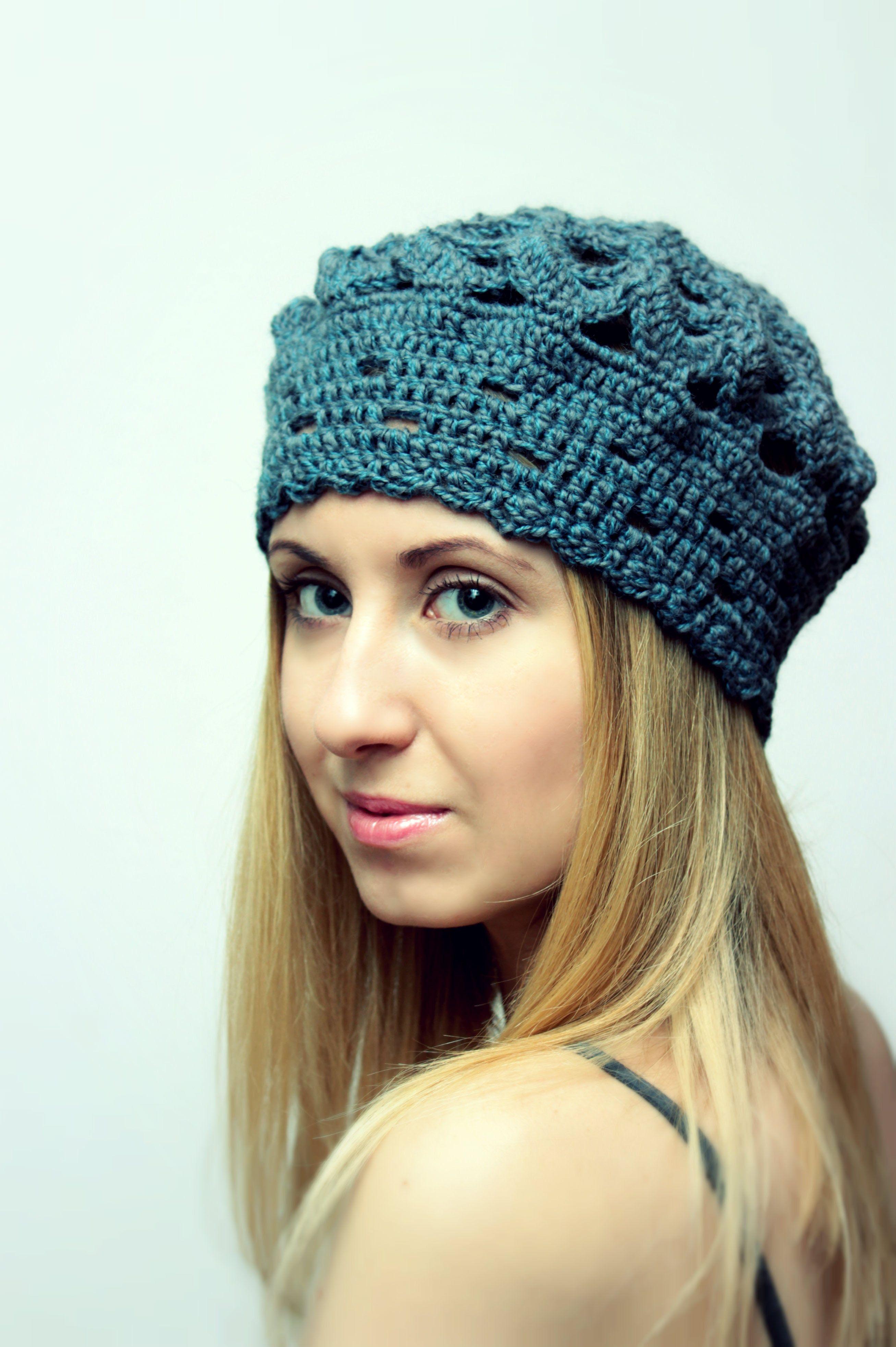 Crochet Beret Hat.