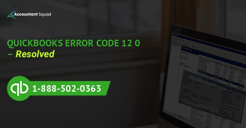 QuickBooksErrorCode12 #QuickBooksErrorSupport #QuickBooks