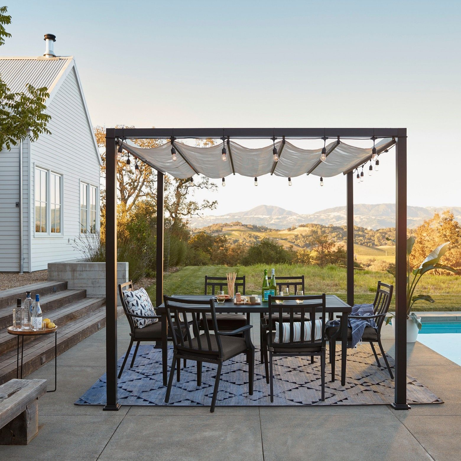 Pergola Bois Et Fer keep the perfect amount of shade covering your outdoor space