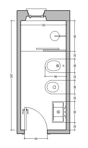 Risultati immagini per configurazione bagni piccoli | progetti ...
