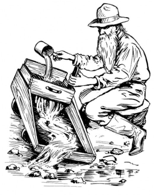 Gold Rush Clip Art Free Printable Western Coloring Pages and